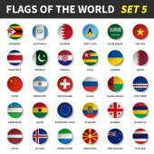Fotografie All flags of the world set 5 . Circle and concave design