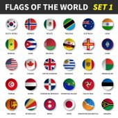Fotografie All flags of the world set 1 . Circle and concave design