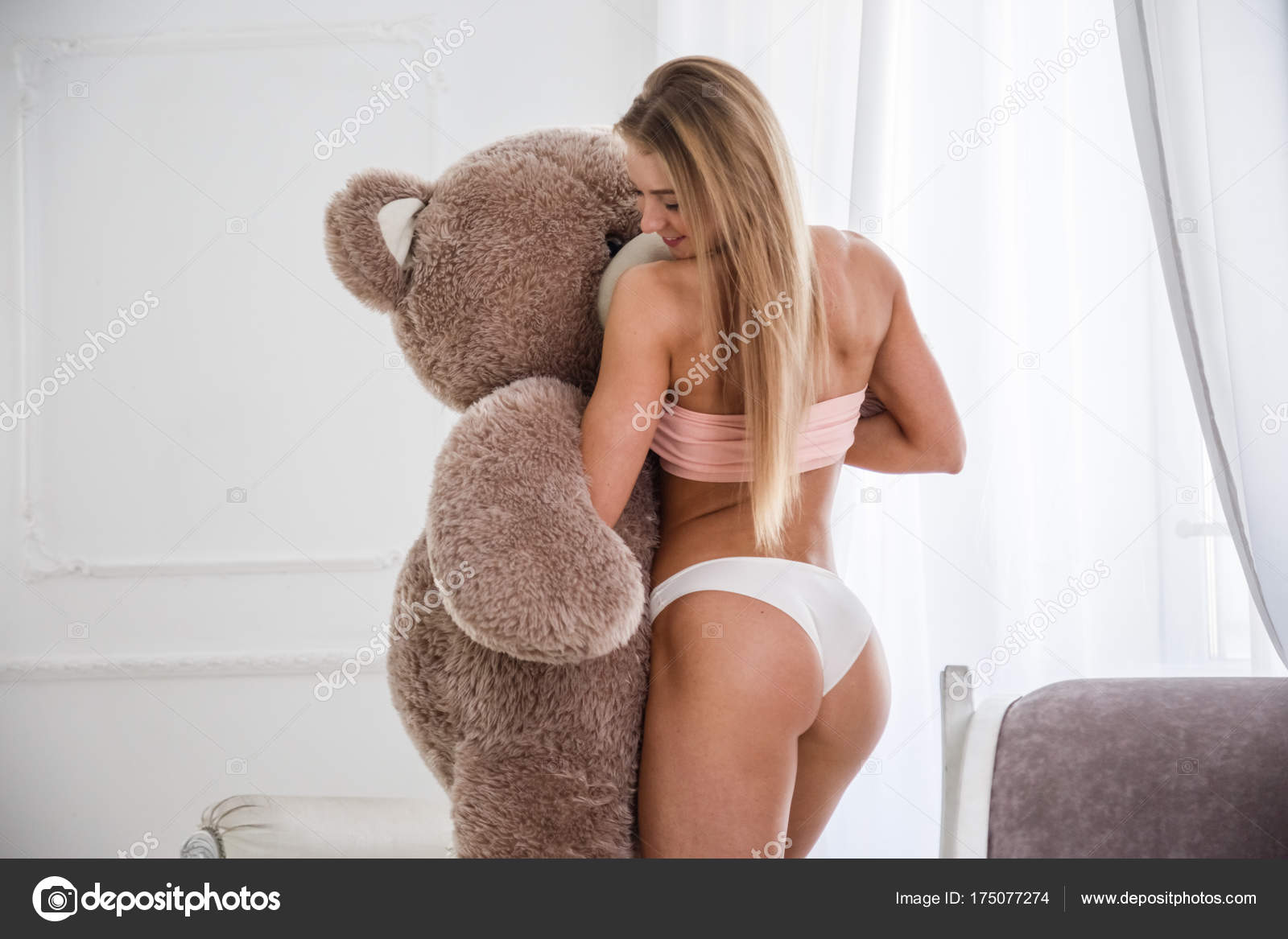Naked girl stuffed bear porn full hd photos