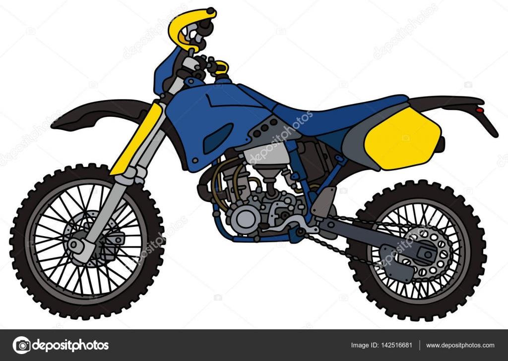 Moto Da Cross Blu Vettoriali Stock 2v 142516681