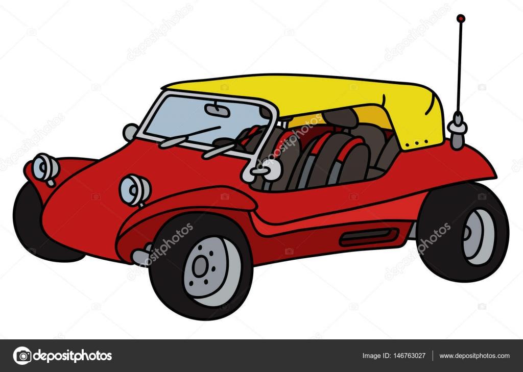 vermelho dune buggy vetor de stock 2v 146763027