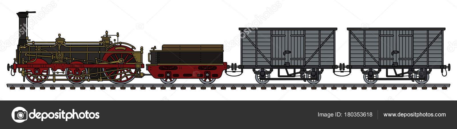 Main dessin train vapeur historique fret image - Dessin train et wagon ...