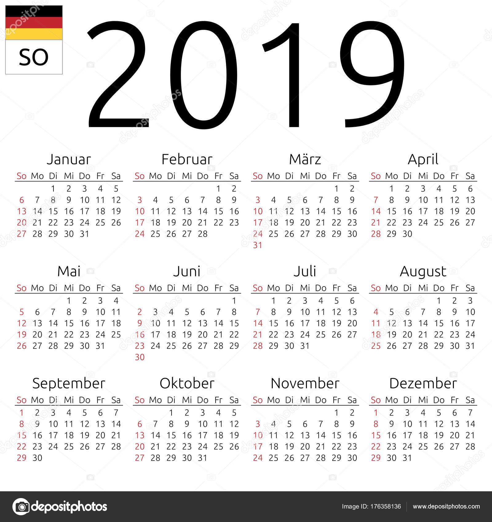2019 Takvimi Kleobergdorfbibco