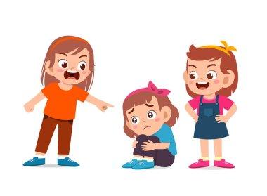 kid girl bully other friend bad behavior