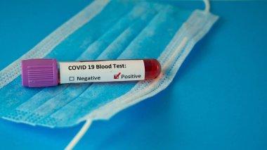 Background image of Corona virus blood test test