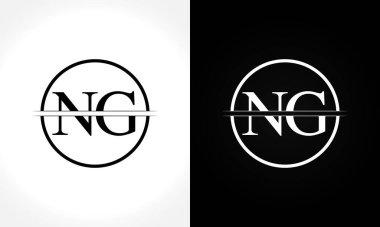 Initial Monogram Letter NG Logo Design Vector Template. NG Letter Logo Design