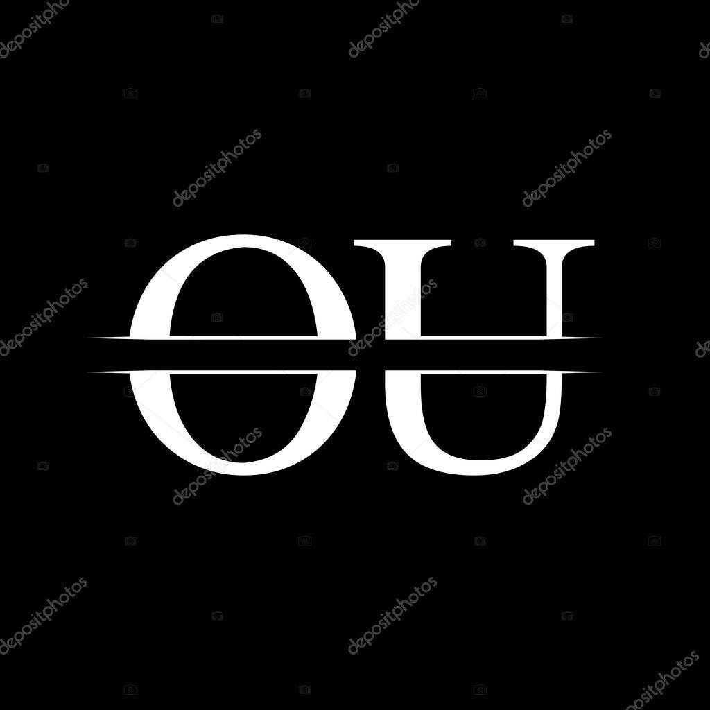 Initial Monogram Letter Ou Logo Design Vector Template Ou Letter Logo Design Premium Vector In Adobe Illustrator Ai Ai Format Encapsulated Postscript Eps Eps Format