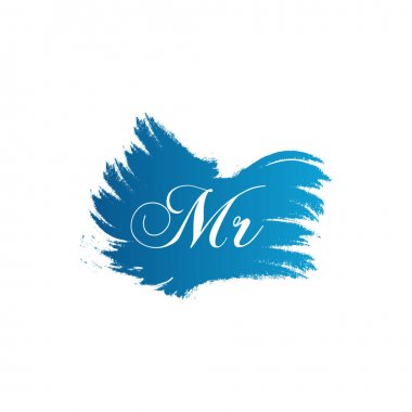 Initial MR letter Logo Design vector Template. Abstract Letter MR logo Design