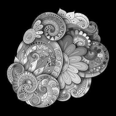 Monochrome Floral Background