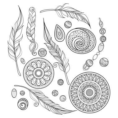 Set of Ethnic Decorative Elements