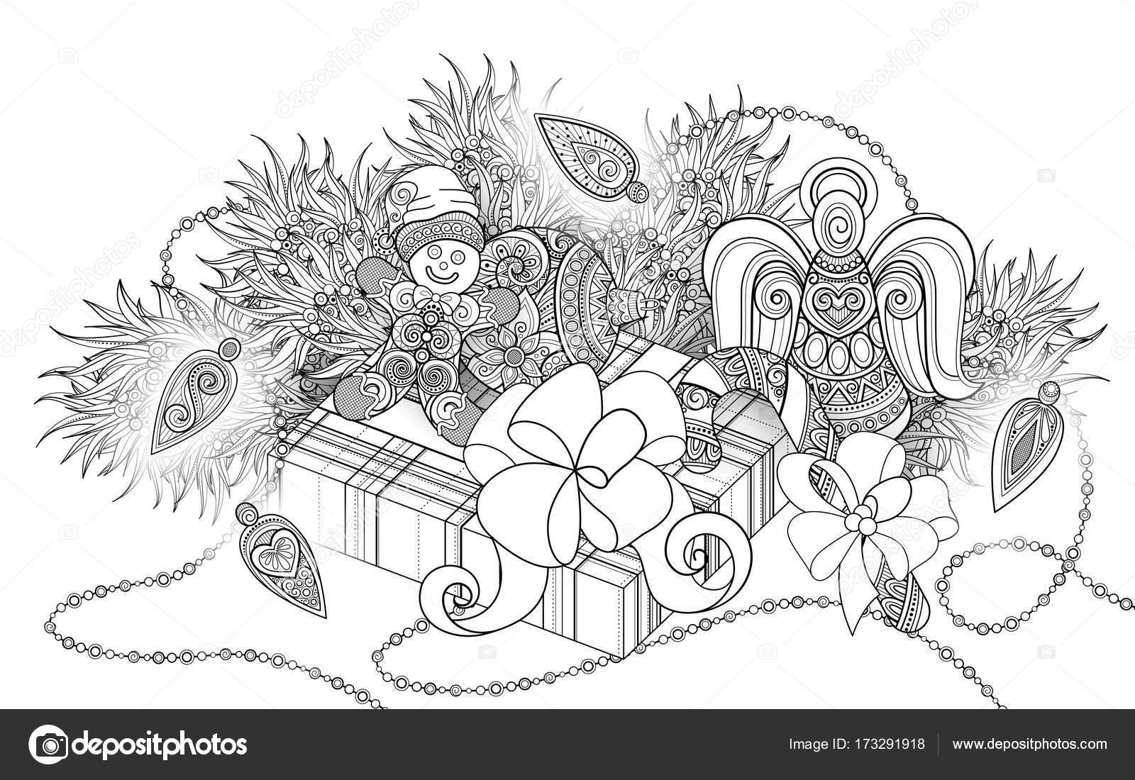 Ilustración de año nuevo monocromo — Vector de stock © Krivoruchko ...