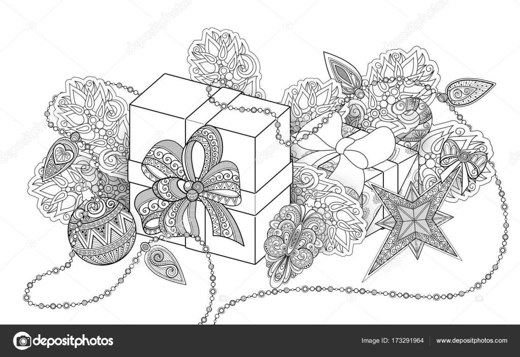 Tek Renkli Yeni Yıl çizim Stok Vektör Krivoruchko 173291964