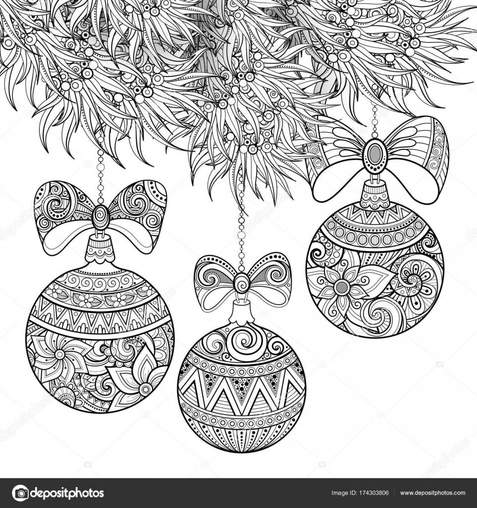 白黒メリー クリスマス イラスト花のモチーフ ストックベクター