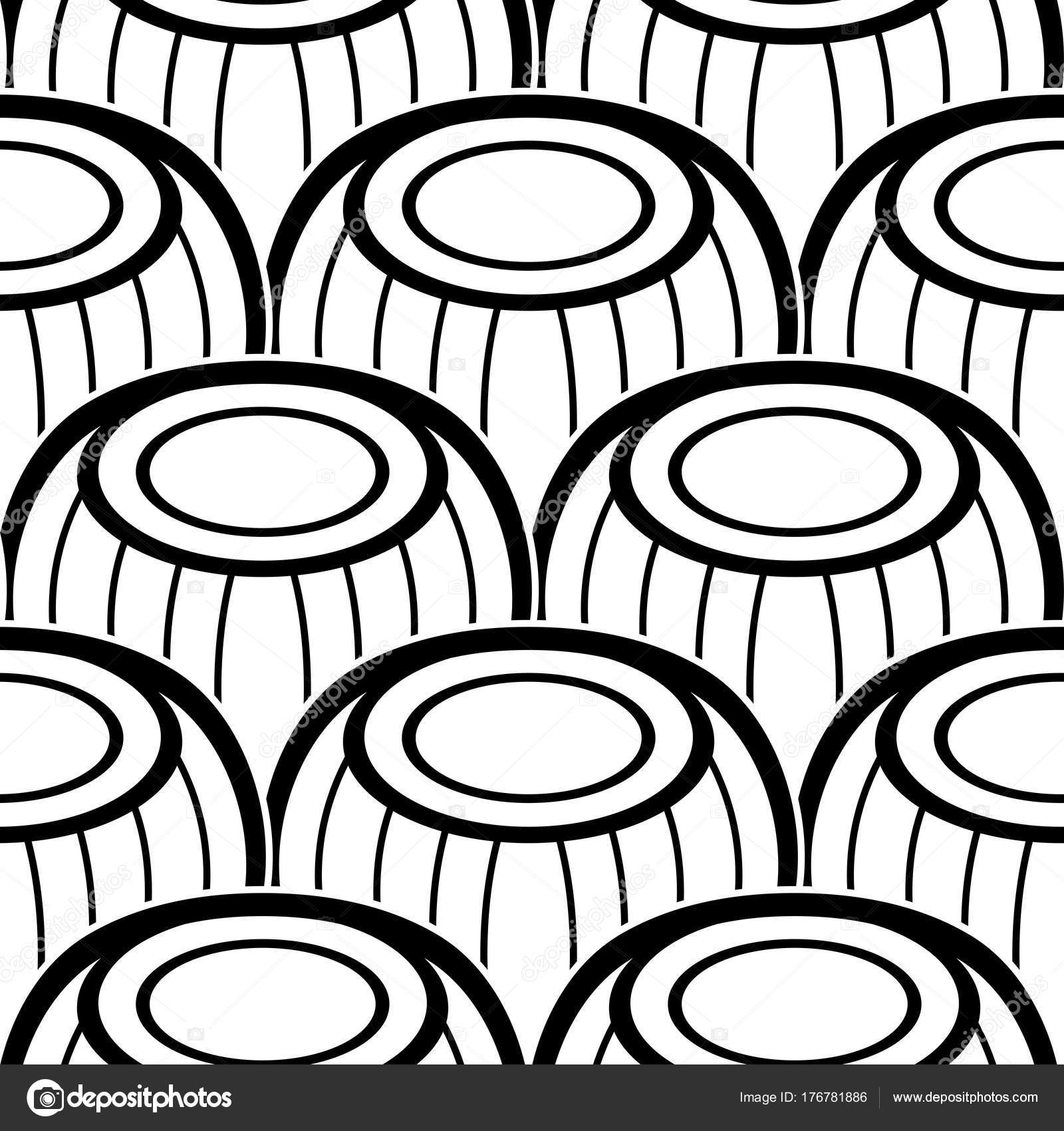 Black White Seamless Pattern Ethnic Motifs Endless Texture Abstract