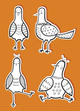 cartoon Birds stickers
