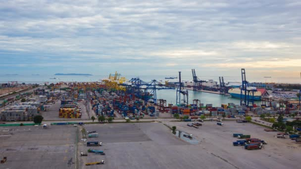 Chonburi Leamchabang harbor, THAILAND - May 21: Industrial Container Cargo  freight at harbor for Logistic Import Export on May 21, 2016 at Leamchabang  harbor Thailand