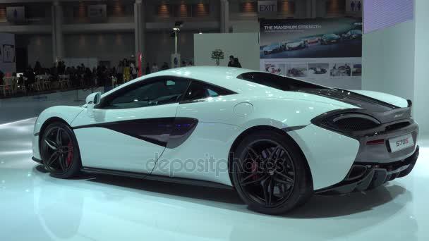 28. března 2017. Bangkok, Thajsko. Vozy Lamborghini na displeji v 38 Bangkok International Auto Show v centru dopad