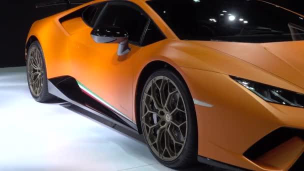 28. března 2017. Bangkok, Thajsko. Vozy Lamborghini na displeji v 38 Bangkok International Auto Show v centru dopad.