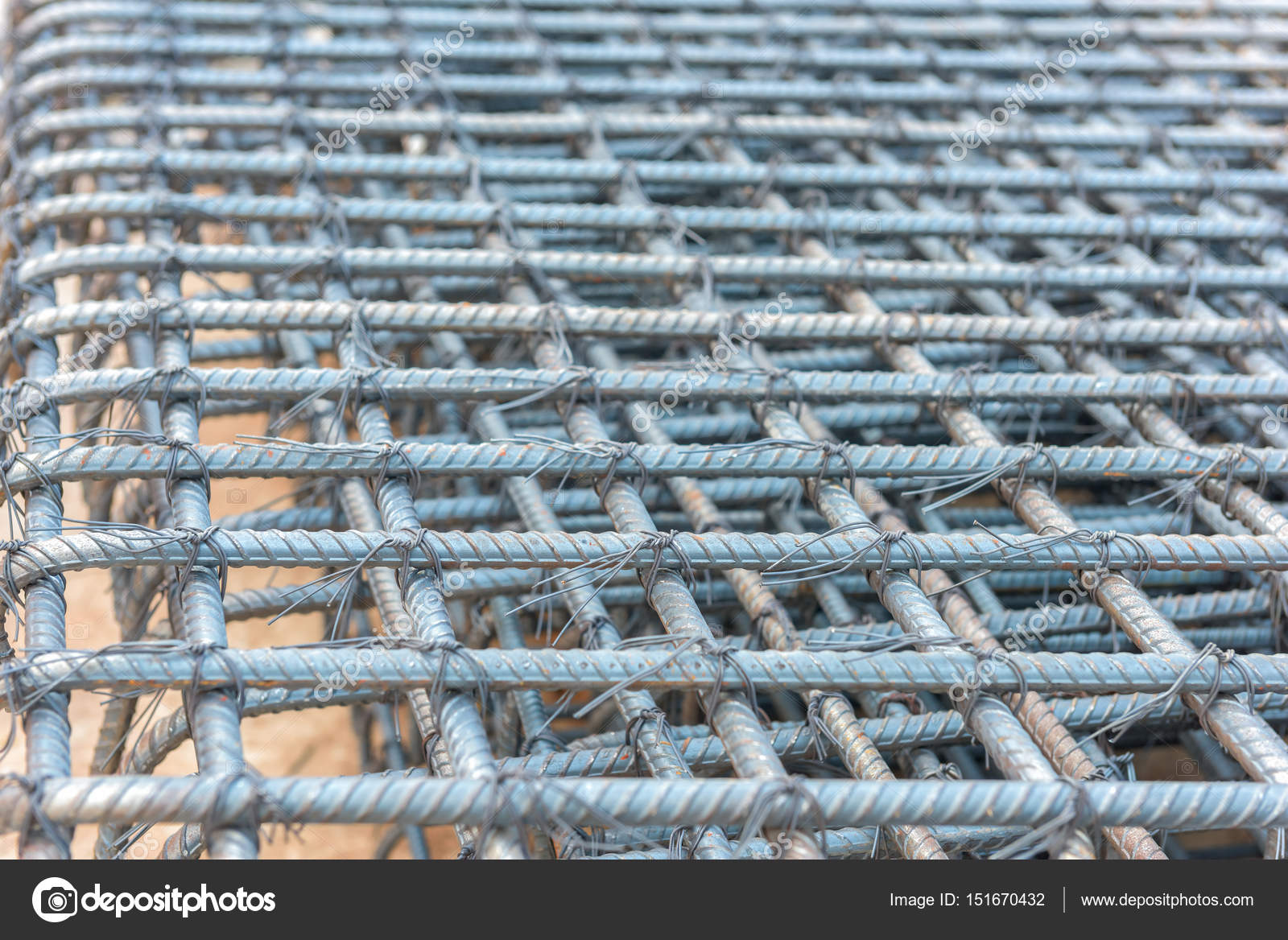 Steel rods bars can used for reinforce concrete — Stock Photo ...