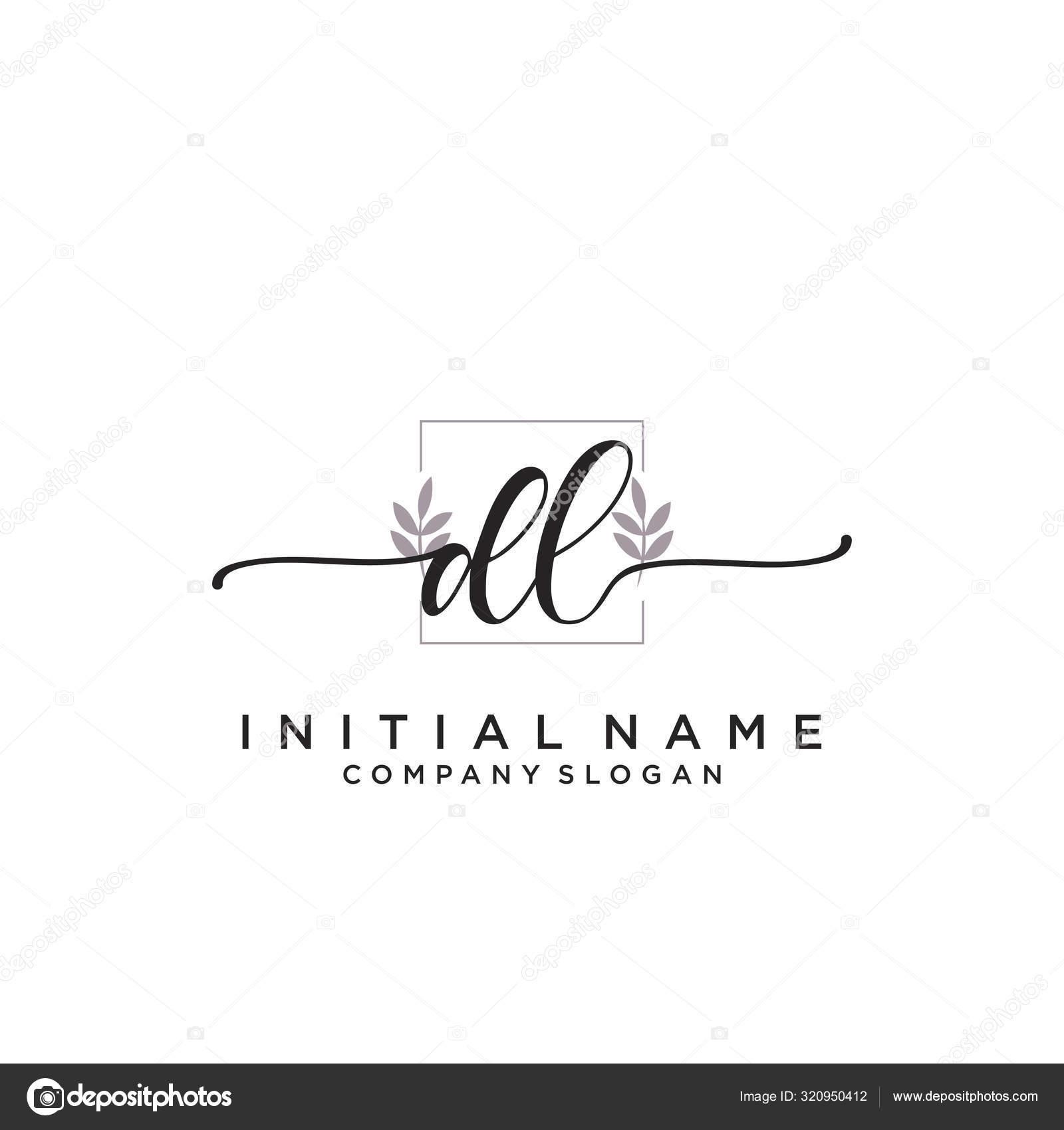 Initial Handwriting Logo Design Logo Fashion Photography Wedding Beauty Business Stock Vector C Xinthink 320950412