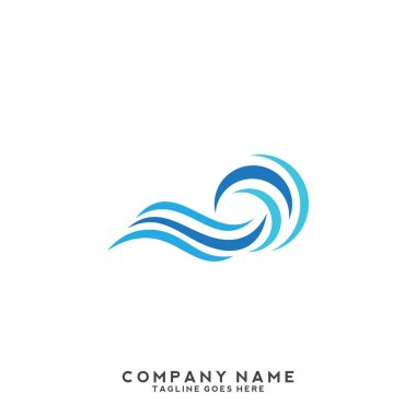 Water wave Logo Template.