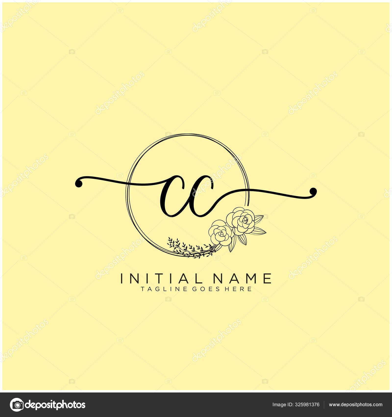 Letter Initial Beauty Monogram Elegant Logo Design Handwriting Logo Initial Stock Vector C Xinthink 325981376