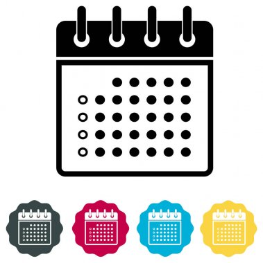 Calender Organizer Icon - Illustration