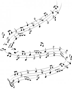 WALTZ AND MUSIC NOTES ENVOLEE