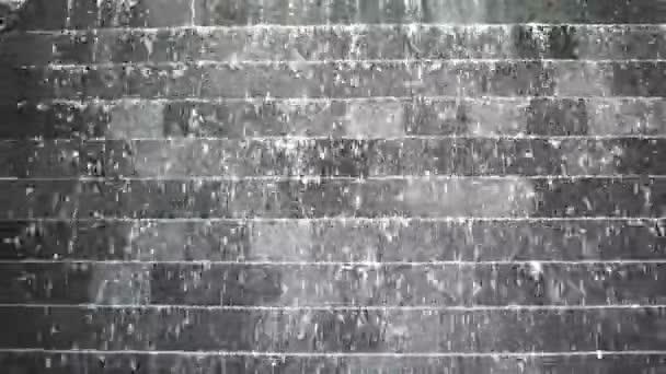 Wasser-Wand-Kaskade rückwärts. Abstrakte Freiheit schweben ...