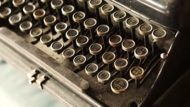 Old classic typewriter with Thai alphabets keyboard