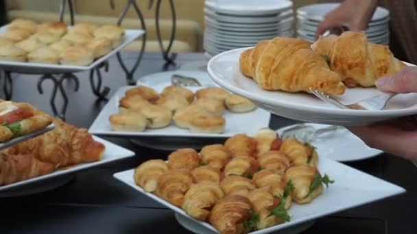 Assortment Sandwiches Buffet Wedding Reception Light Meal Food