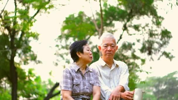 Asijské starší pár s vážnou diskusi. Život, plánování, finanční a rodinné vydání