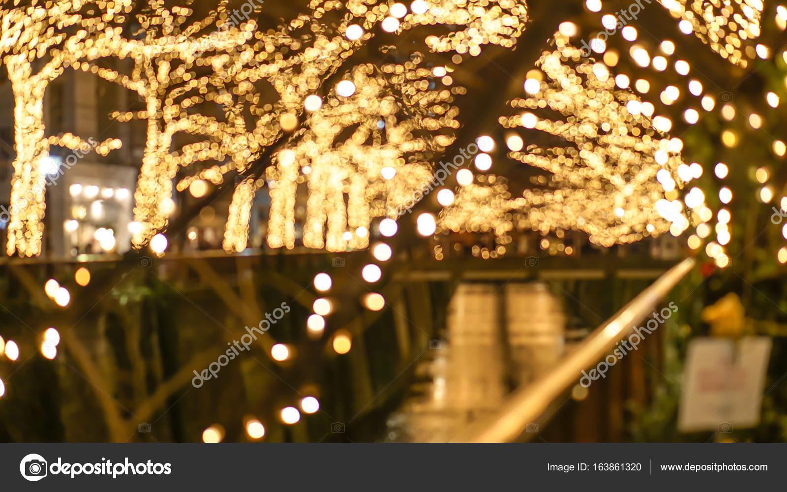 Beautiful Golden Illumination Christmas Light In Tokyo, Japan. Light  Reflect In Nakameguro Canal U2014 Photo By Glowonconcept