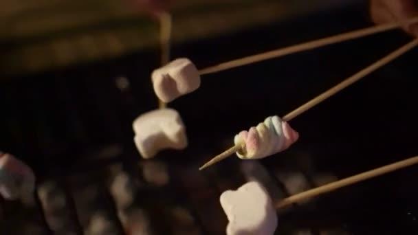 Marshmallow gril po grilování, kempování 4k