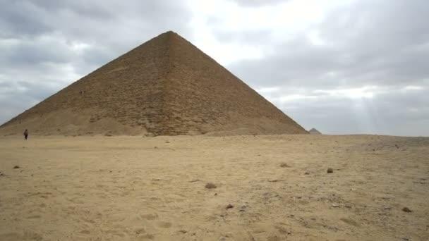 Iconic red pyramid of Egypt Giza landmark