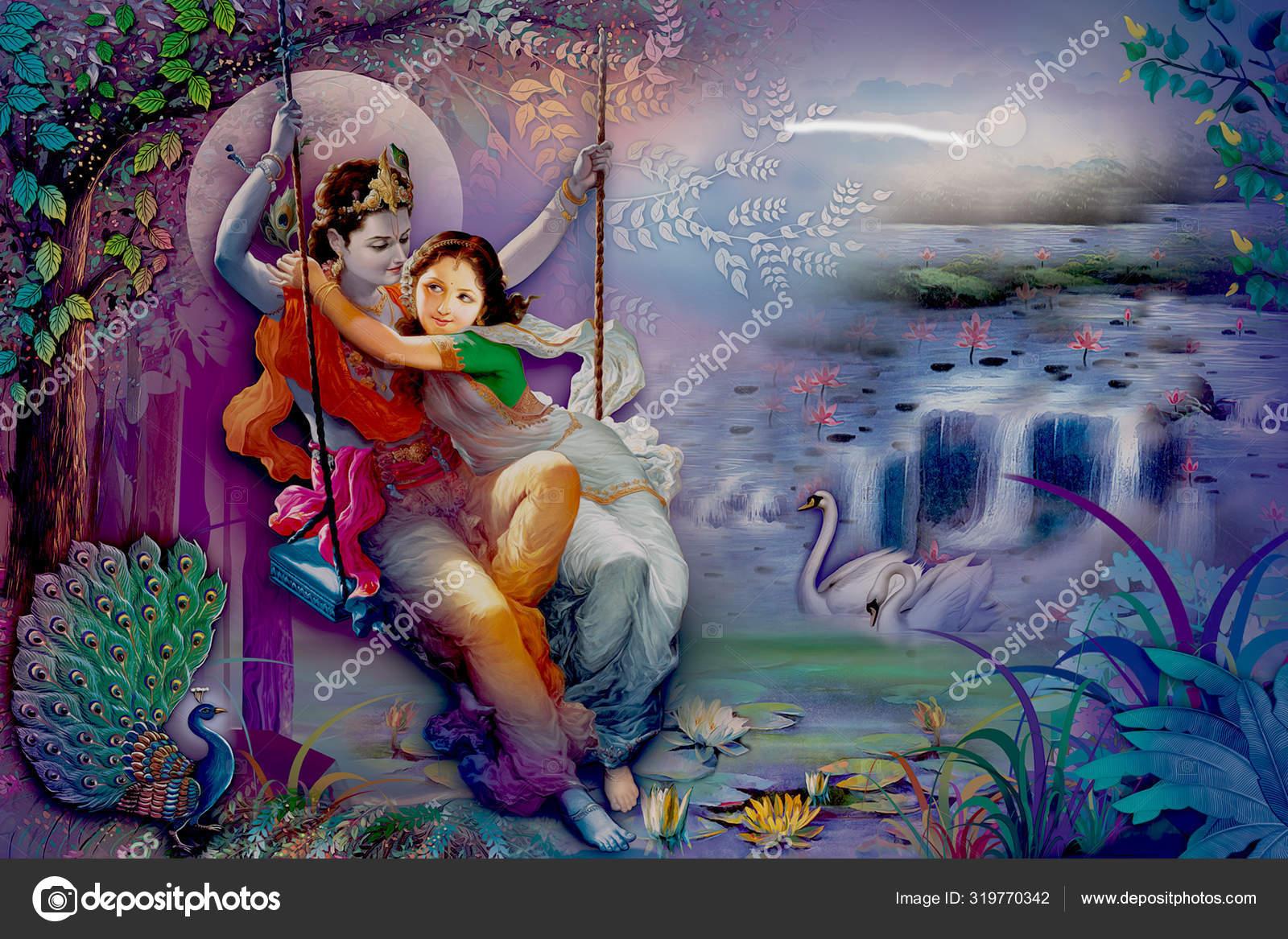depositphotos 319770342 stock photo lord radha krishna beautiful wallpaper