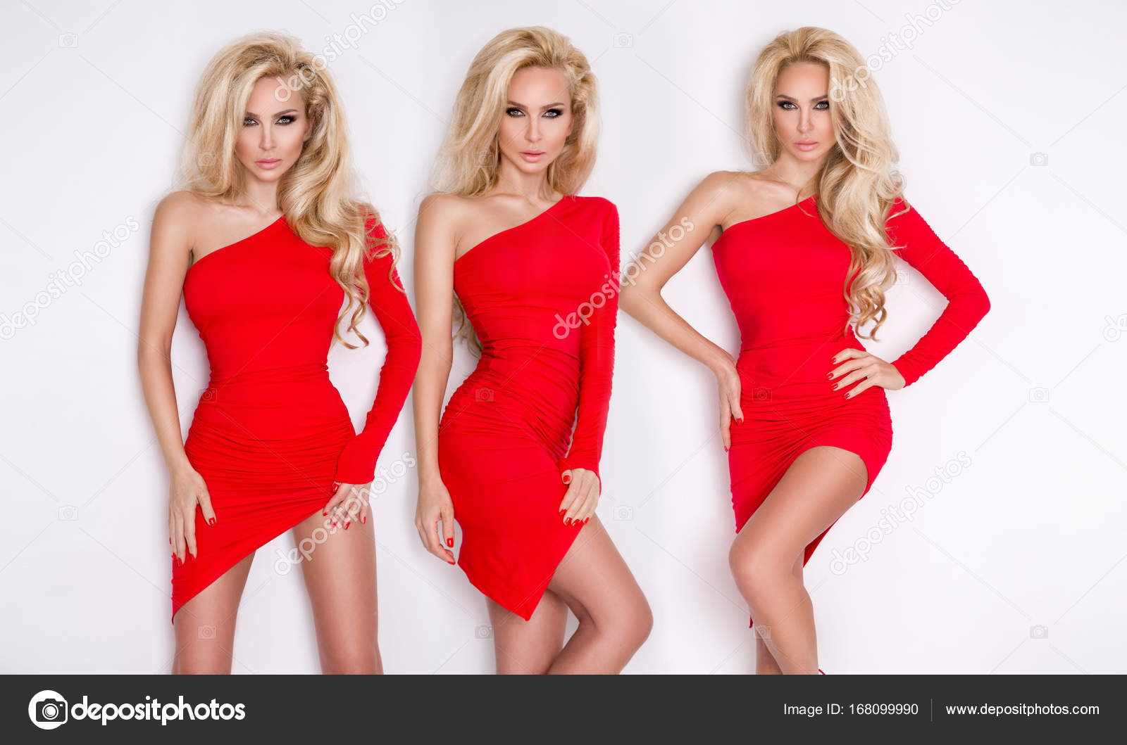 Easier tell, Sexy blonde red dress opinion