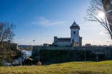 view of Hermann castle in Narva, Estonia
