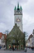 Straubing, Deutschland - März 2020: Der Blick auf die Altstadt von Straubing in Bayern