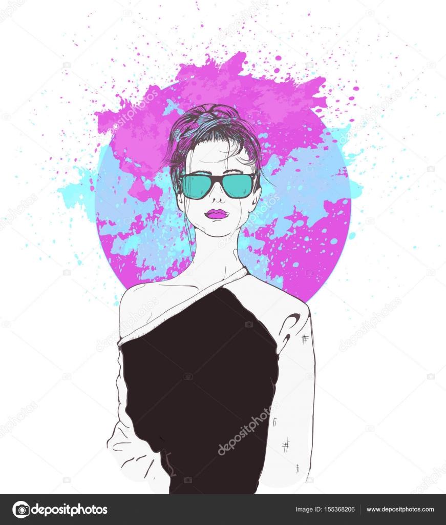Fantasmes de roses, fille de swag \u2014 Image vectorielle