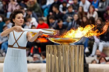 Ceremony of the Olympic Flame for Winter Olympics