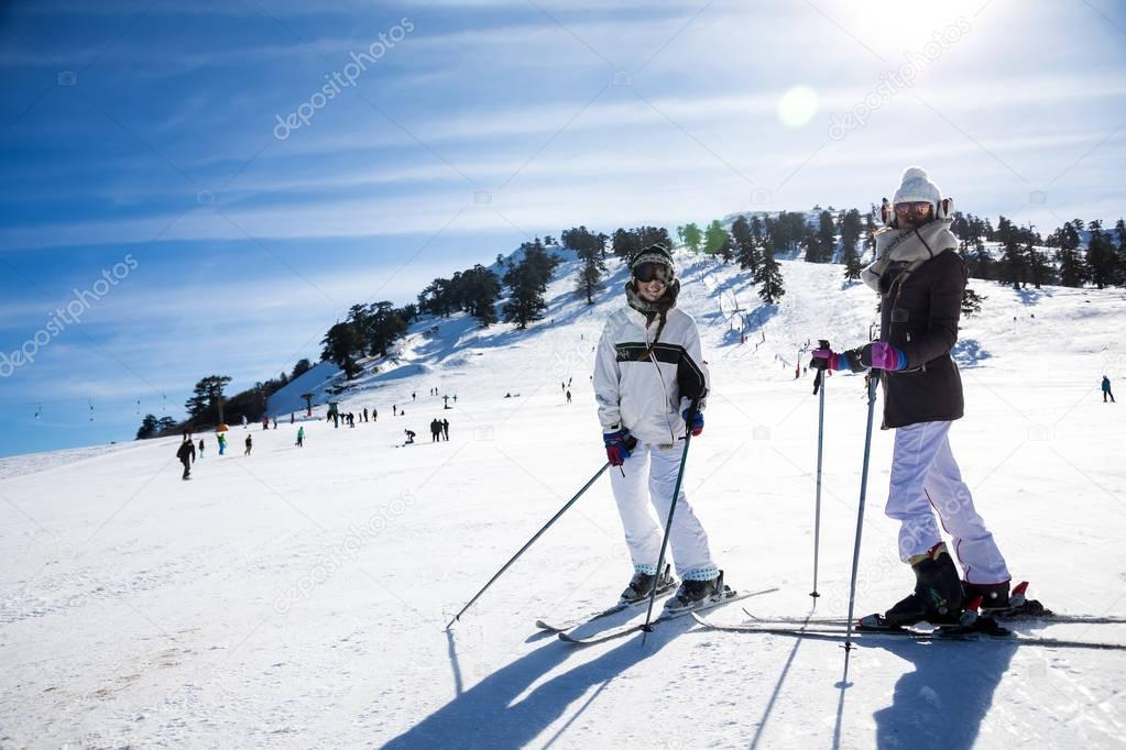 Ski Resort Vasilitsa in the mountain range of Pindos, in Greece.