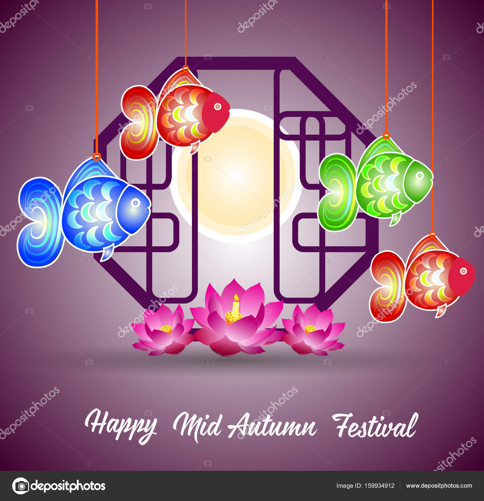 ad83cb719 Traditional background for traditions of Chinese Mid Autumn Festival or Lantern  Festival — Stock Vector