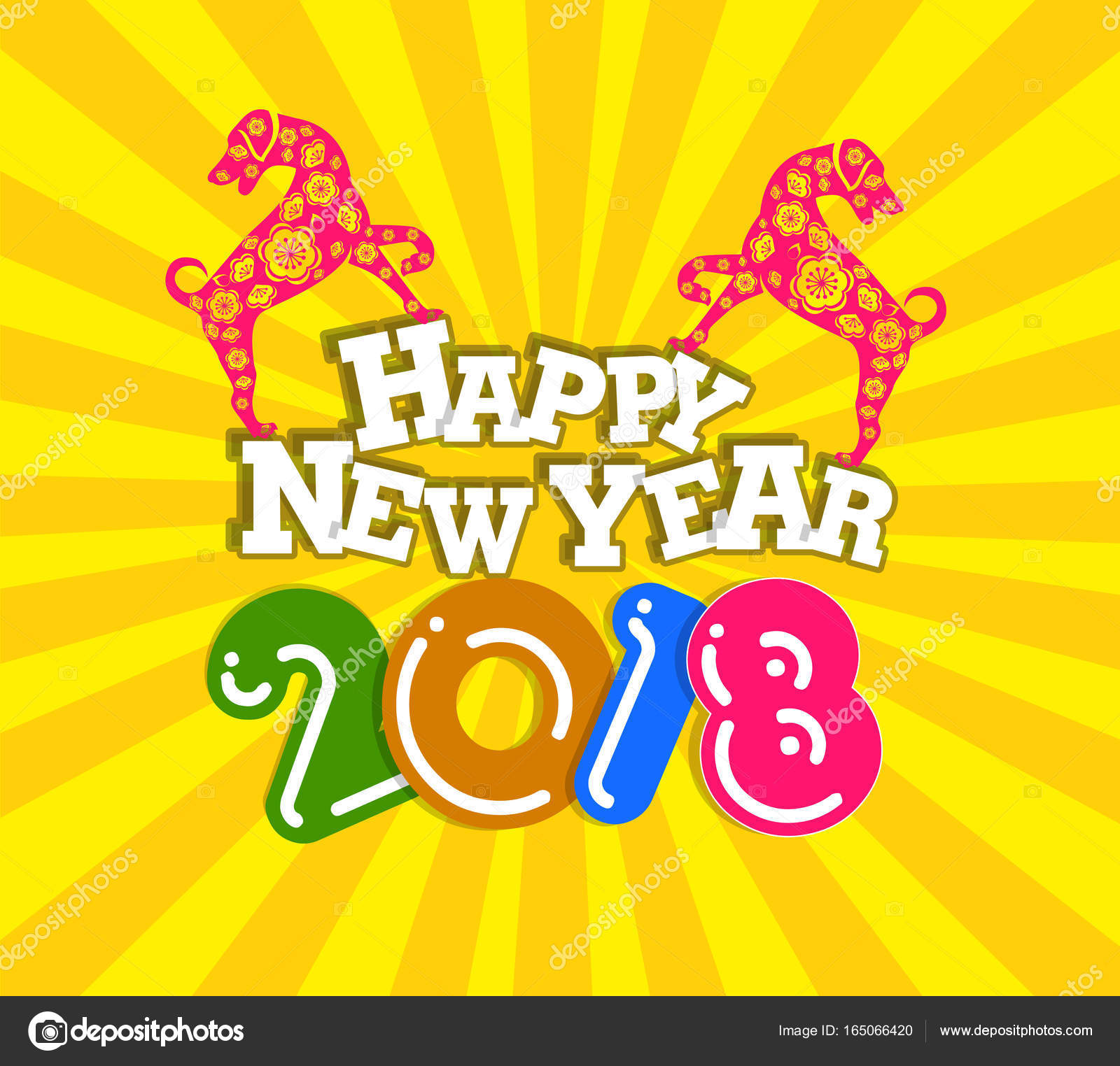 Happy New Year 2018 Year Of The Dog Chinese New Year Lunar New