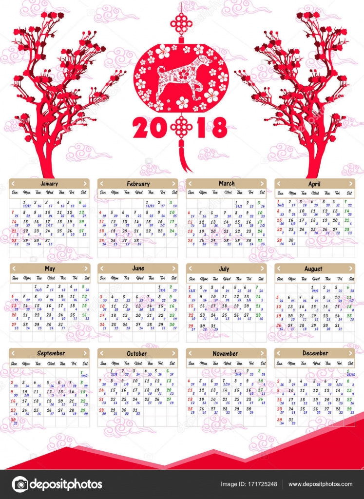 Chinese Calendar Illustration : Lunar calendar chinese for happy new year