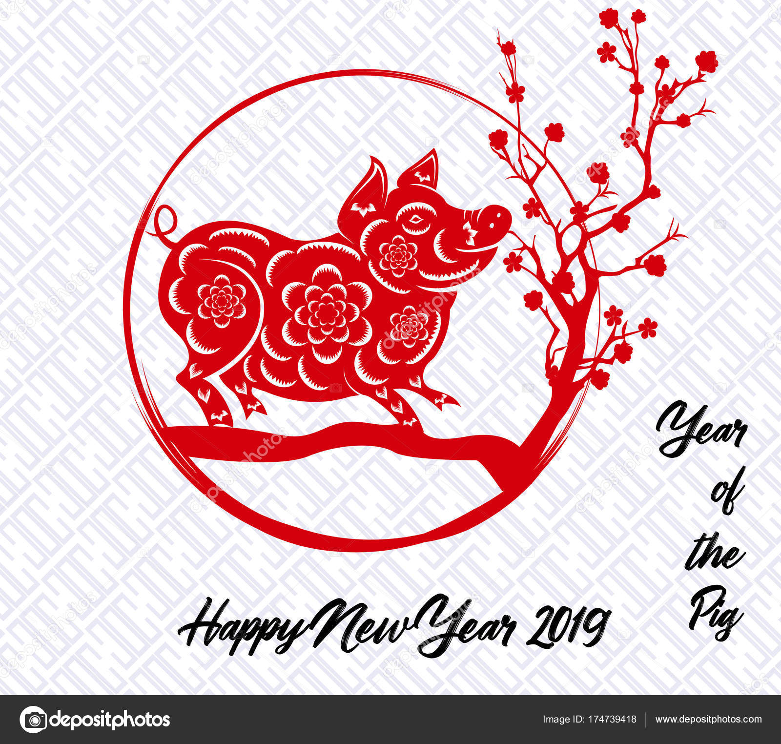 happy chinese new year 2019 year of the pig lunar new year - Chinese New Year 2016 Zodiac