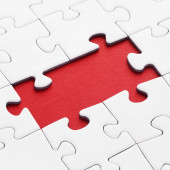 close-up shot of Jigsaw Puzzle With Missing Pieces