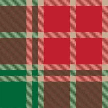 Classic Modern Plaid Tartan Seamless Pattern