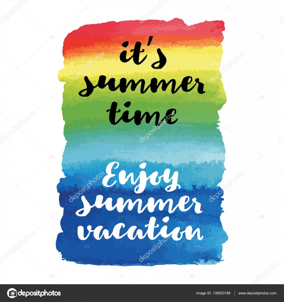 Enjoy Summer Vacation Its Summer Time Summer Quote Vector Poster U2014 Stock  Vector