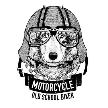 Wild WOLF for motorcycle, biker t-shirt